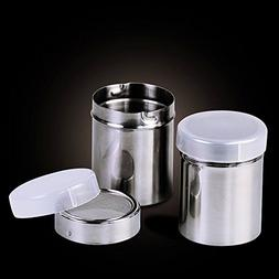 18/10 Steel Sugar Shakers with Lid, Professional Pepper Shak