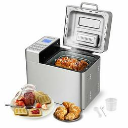 2 LB Automatic Bread Maker Stainless Steel Programmable Brea