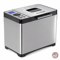 Loaf Bread Maker Electric Silver Home Kitchen Automatic Prog