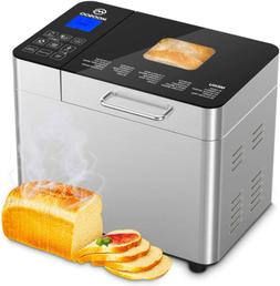 25-in-1 Automatic Bread Maker Machine 2LB Stainless Steel Pr