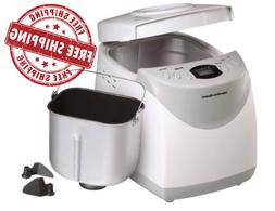 Hamilton Beach 2lb Bread Machine Automatic Breadmaker w/ Glu