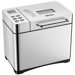 Aicok 650W Breadmaker, 19 Programs Machine of Make Pan with