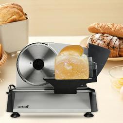 """7.5"""" Home Kitchen Bread Deli Food Slicer Semi-automatic Gear"""