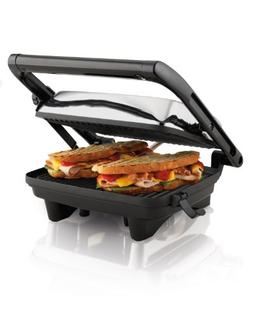 Hamilton Beach - Panini Press Gourmet Sandwich Maker - Chrom