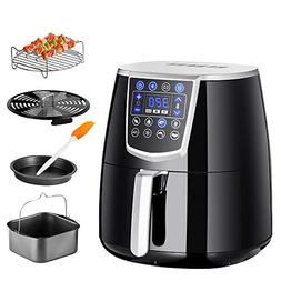 Chef's Star AF-15 1350W Premium 4.2L XL Air Fryer w/Recipe C