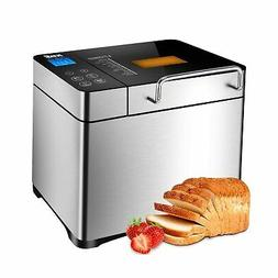 KBS Automatic Bread Machine, 2.2LB Stainless Steel Bread Mak