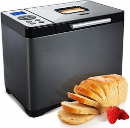 KBS Automatic Bread Machine, 2LB Stainless Steel Bread Maker