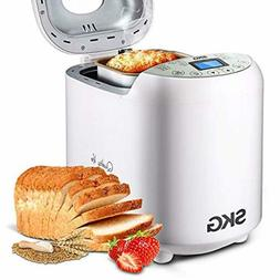 SKG Automatic Bread Machine, Gluten Free Loaf Maker, 19 Prog