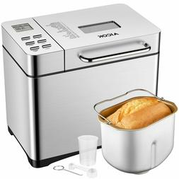 Aicok Automatic Bread Maker 2.2lb Fully Stainless Steel Brea