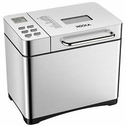 Automatic Bread Maker, Aicok 2 Pound Stainless Steel Bread M