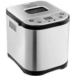 automatic bread maker stainless steel 2lb bread