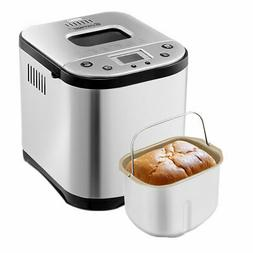 Automatic Bread Maker Stainless Steel Programmable 2LB Bread