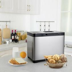 Automatic Stainless Steel 2LB Bread Maker with 19 Program Se