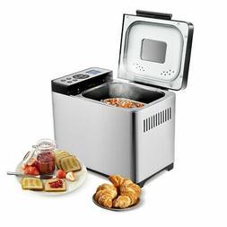 2 LB Bread Maker Stainless Steel Home Kitchen Bread Machine
