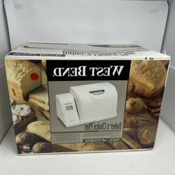 West Bend Bakers Choice Plus 41090 Bread Maker Dual Paddle w