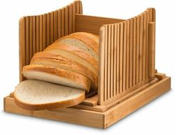 Bamboo Bread Slicer for Homemade Bread and Loaf Cakes, Compa