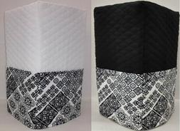 Black & White Mosaic Damask Bread Machine Cover