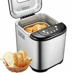 Bread Maker, Aicok 2 Pound Automatic Bread machine with 15 P