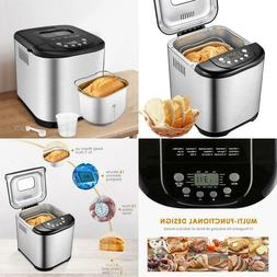 Bread Maker, Aicok 2 Pound Programmable Bread Machine With G