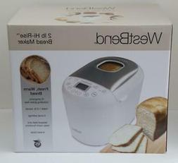 West Bend Bread Maker 2lb Hi-Rise Programmable White 47410 N