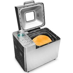 Deco Chef Bread Maker 2LB Stainless Steel w/ 25 Cooking Prog