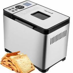 COSTWAY Bread Maker Stainless Steel Automatic Programmable M
