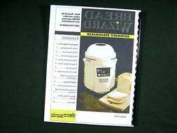 Deco Sonic Bread Wizard 570 Bread Maker Machine Instruction