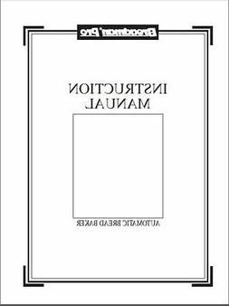 Breadman Bread Machine Manual BK1050S BK1060S BK2000B BK2000