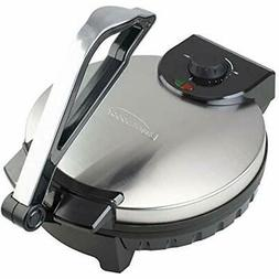 Brentwood TS-129 Stainless Steel Non-Stick Electric Tortilla