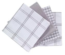 T-fal Textiles 24354 4-Pack Cotton Flat Waffle Dish Cloth, G