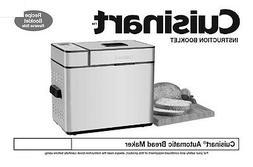 Cuisinart Bread Machine Manual CBK250U, Q119A, CBK100