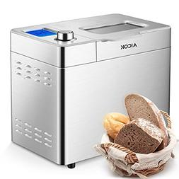 Breadmaker, Aicok 2 Pound Bread Maker Machine with Gluten Fr