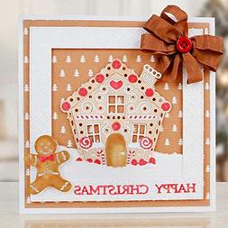 Cutting Dies - Craft Cutting Dies Gingerbread House Metal Di