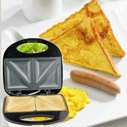Electric Sandwich Maker Nonstick Grilling Bread Toaster Brea