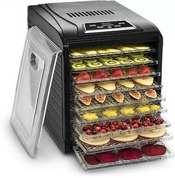 Food Dehydrator Machine 9 Trays Thermostat 8 Presets Timer A