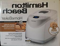 Hamilton Beach HomeBaker 2 Pound Automatic Breadmaker w/ Glu