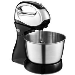 Kitchen 5-Speed Stand Mixer with Dough Hooks Beaters Cakes B