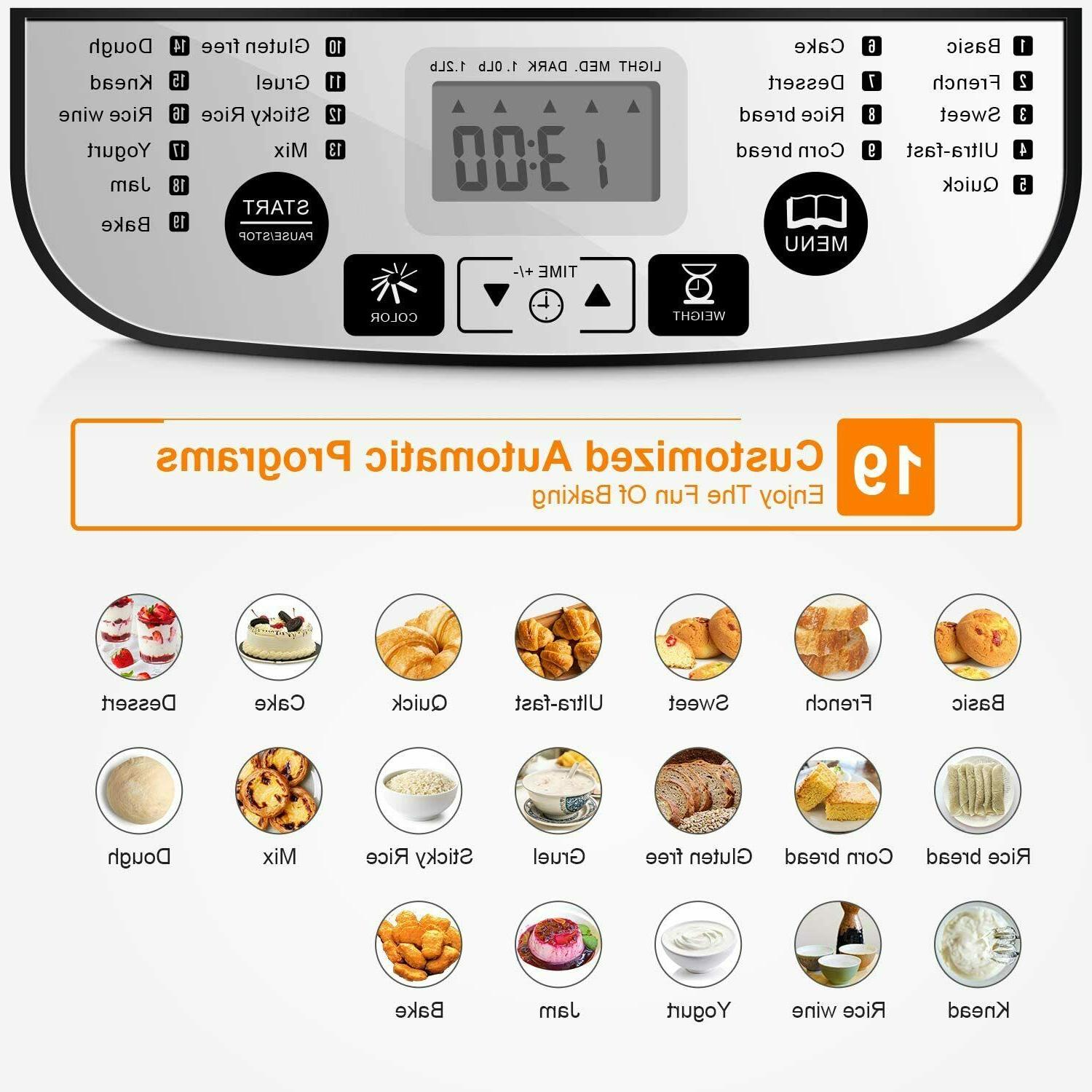 Rozmoz Programmable Bread Maker Setting