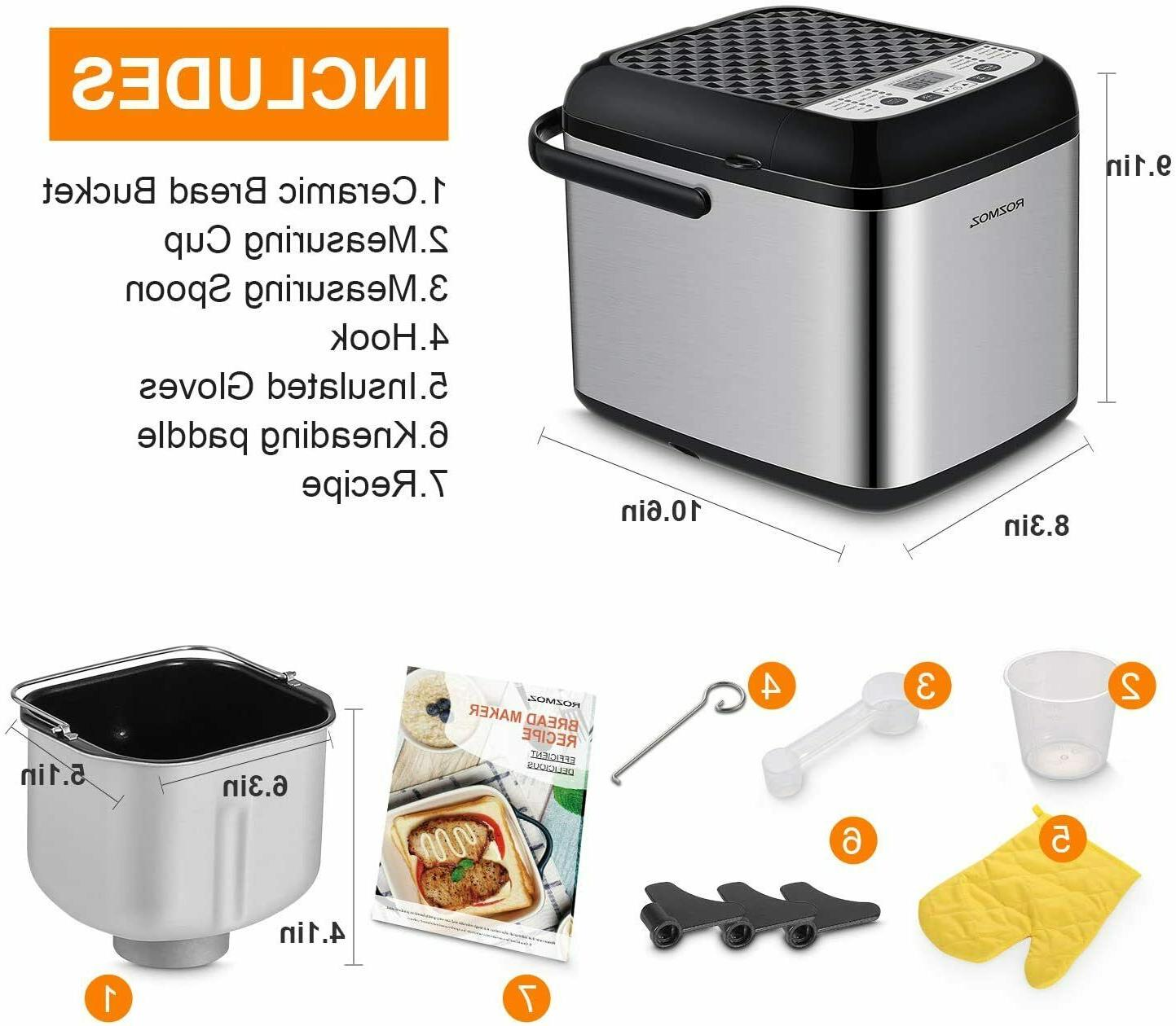 Rozmoz Programmable Nonstick Bread Setting