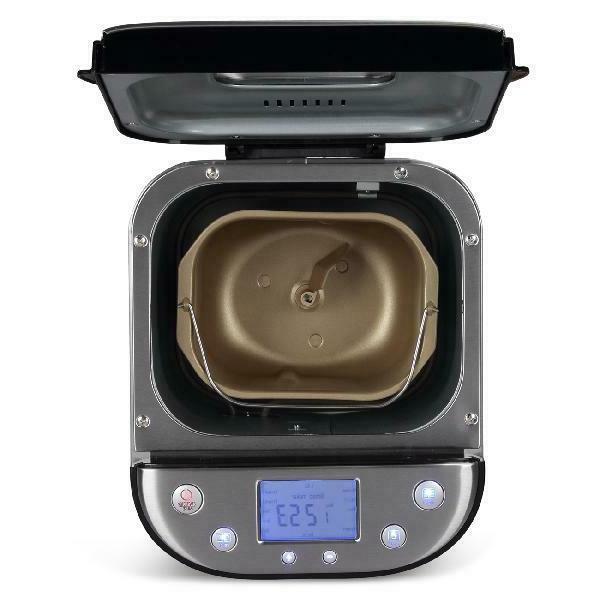 2 LB Automatic Bread Maker Bread Silver pan