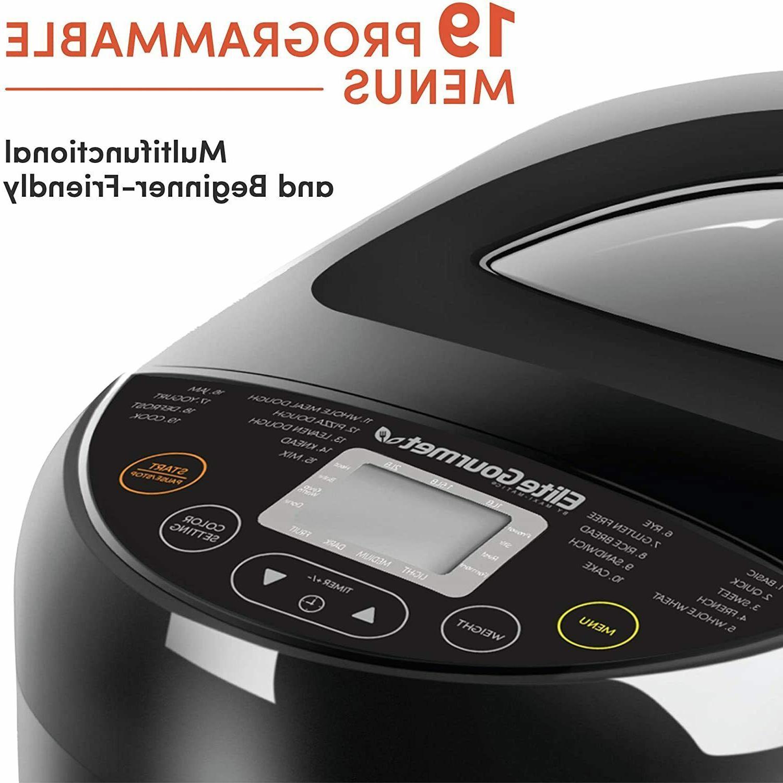 Elite 2lb Programmable Bread Machine Maker