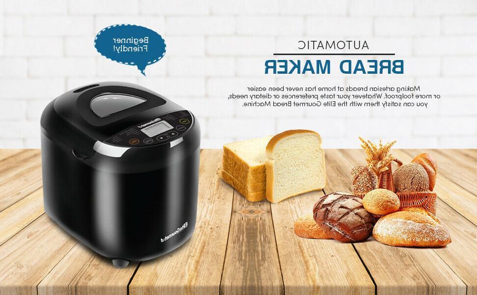 Elite Gourmet Programmable Bread Machine