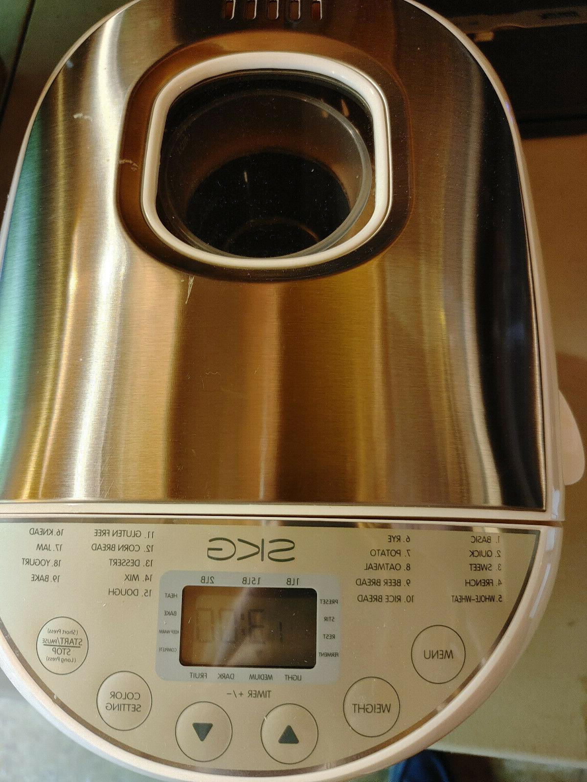3920 automatic bread machine with manual