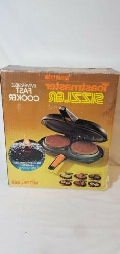 Toastmaster 888 Sizzler Twin Burger Cooker & Grill fully Sub