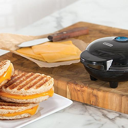 Dash Maker Portable Machine Panini Press for Burgers, Sandwiches, Chicken Other the Breakfast, Snacks with Recipe Red