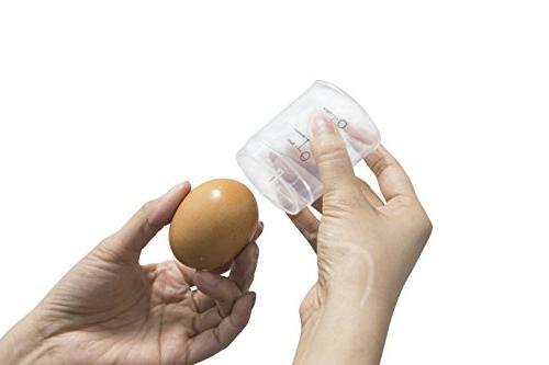 Elite Cuisine Electric Egg Poacher, & Soft, Medium, Hard-Boiled Egg off and Egg White