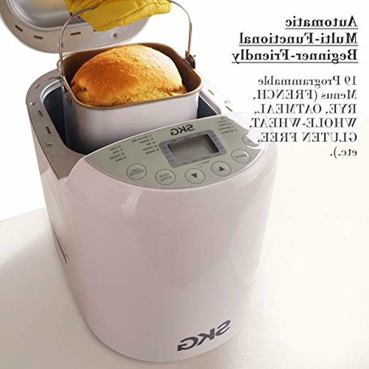 SKG Automatic Bread Machine, Gluten Free 19 Reci