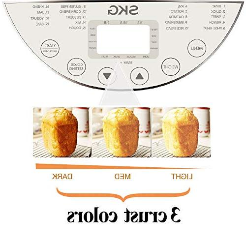 SKG Automatic Machine 2LB Programmable Gluten Wheat Breadmaker
