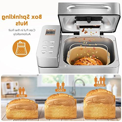 Aicok 2.2LB Steel Bread Machine