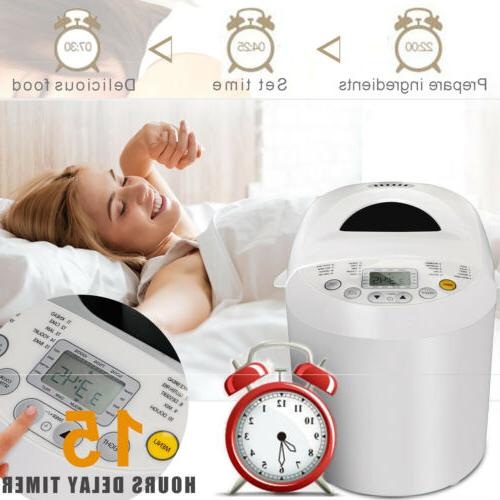 Automatic Bread Machine 2.2lbs With LCD Display & Top